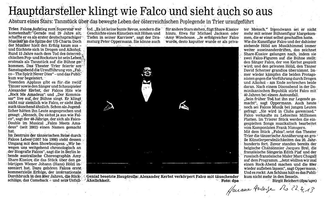 Falco The Spirit Never Dies Alexander Kerbst