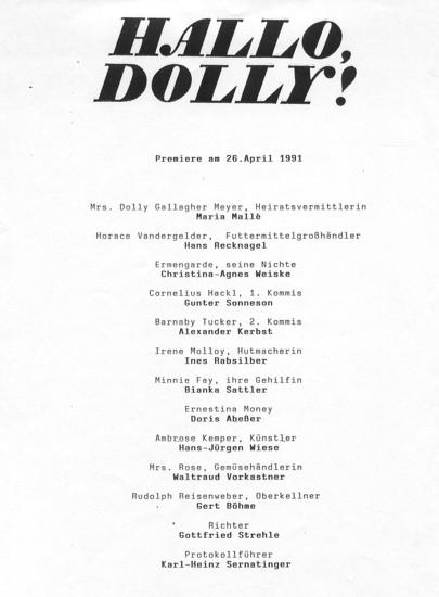 1991.04._Hallo_Dolly_02_Besetzung