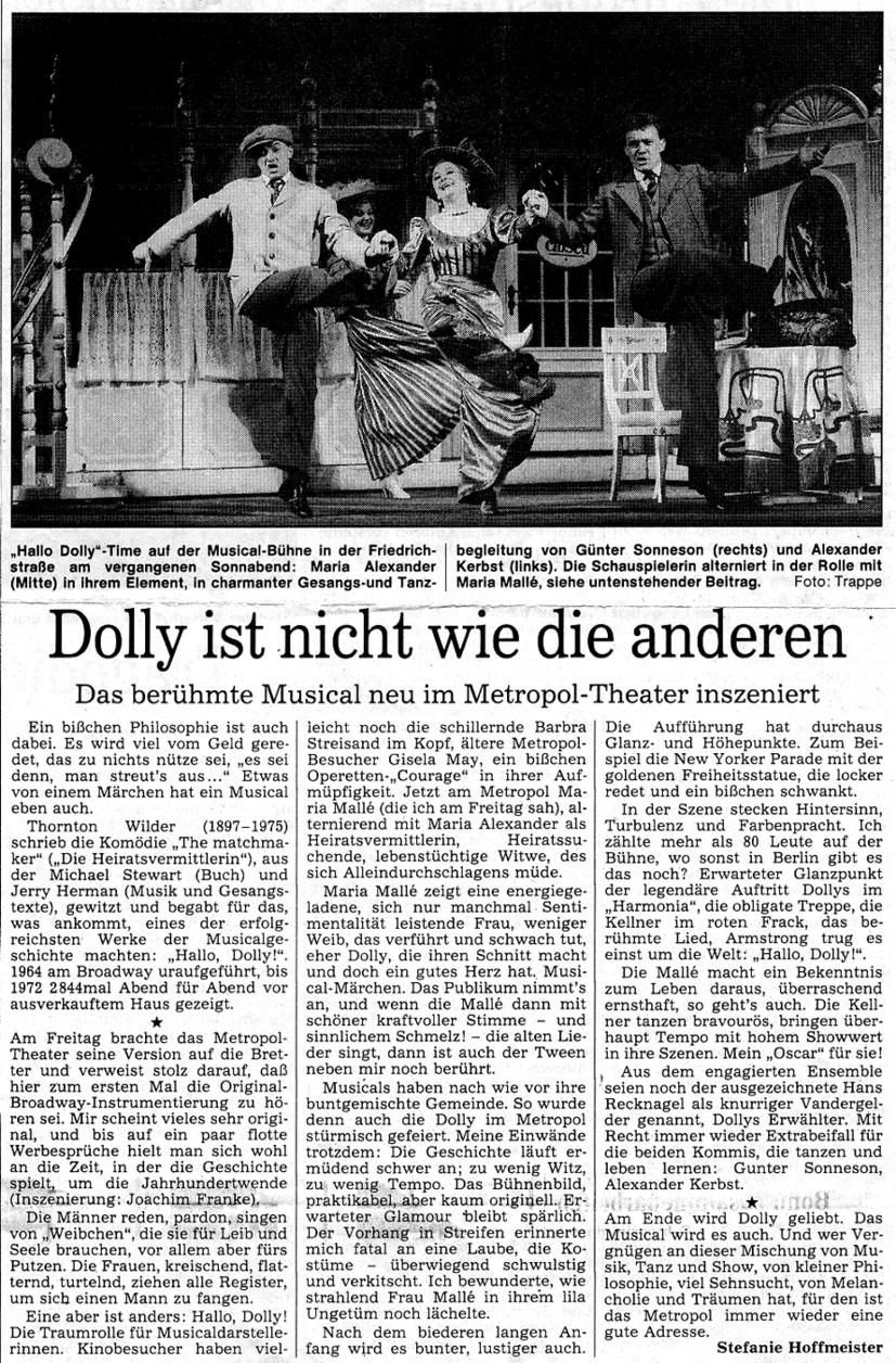 1991.04._Hallo_Dolly_04_Kritik