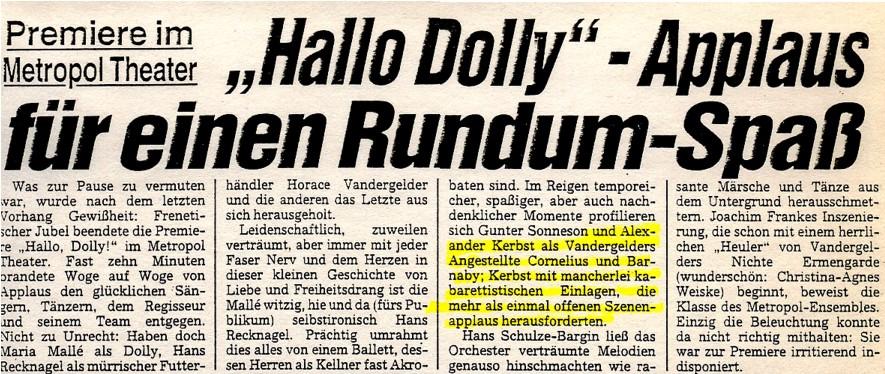1991.04._Hallo_Dolly_04a_Kritik