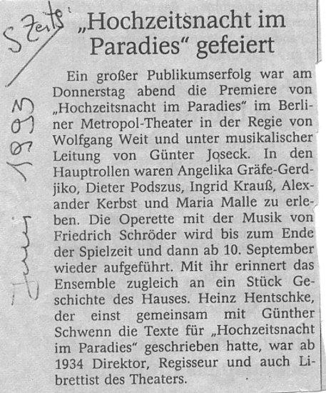 1993.06._Hochzeitsnacht_im_P._04_Kritik
