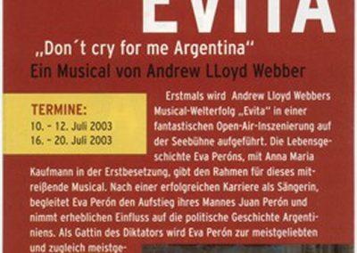 Evita – Tour mir Anna Maria Kaufmann